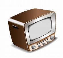 昭和の象徴古いテレビ